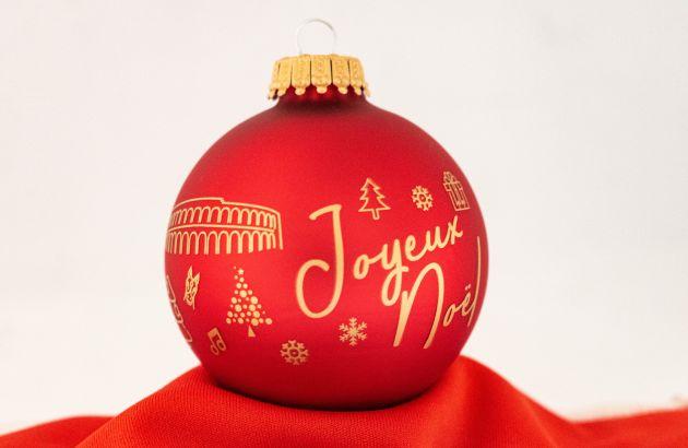 Boule de Noël 7cm rouge