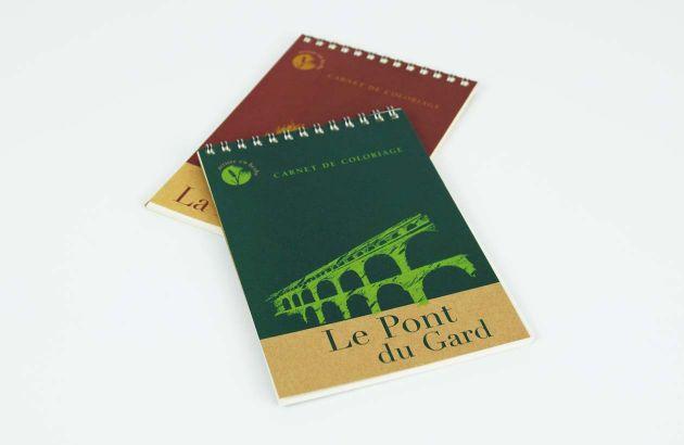 Carnet de coloriage Pont du Gard