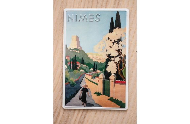 Magnet vintage Nîmes rétro