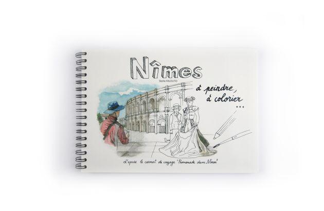 Nîmes à colorier