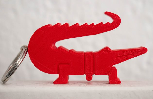 Porte-clefs croco 3D