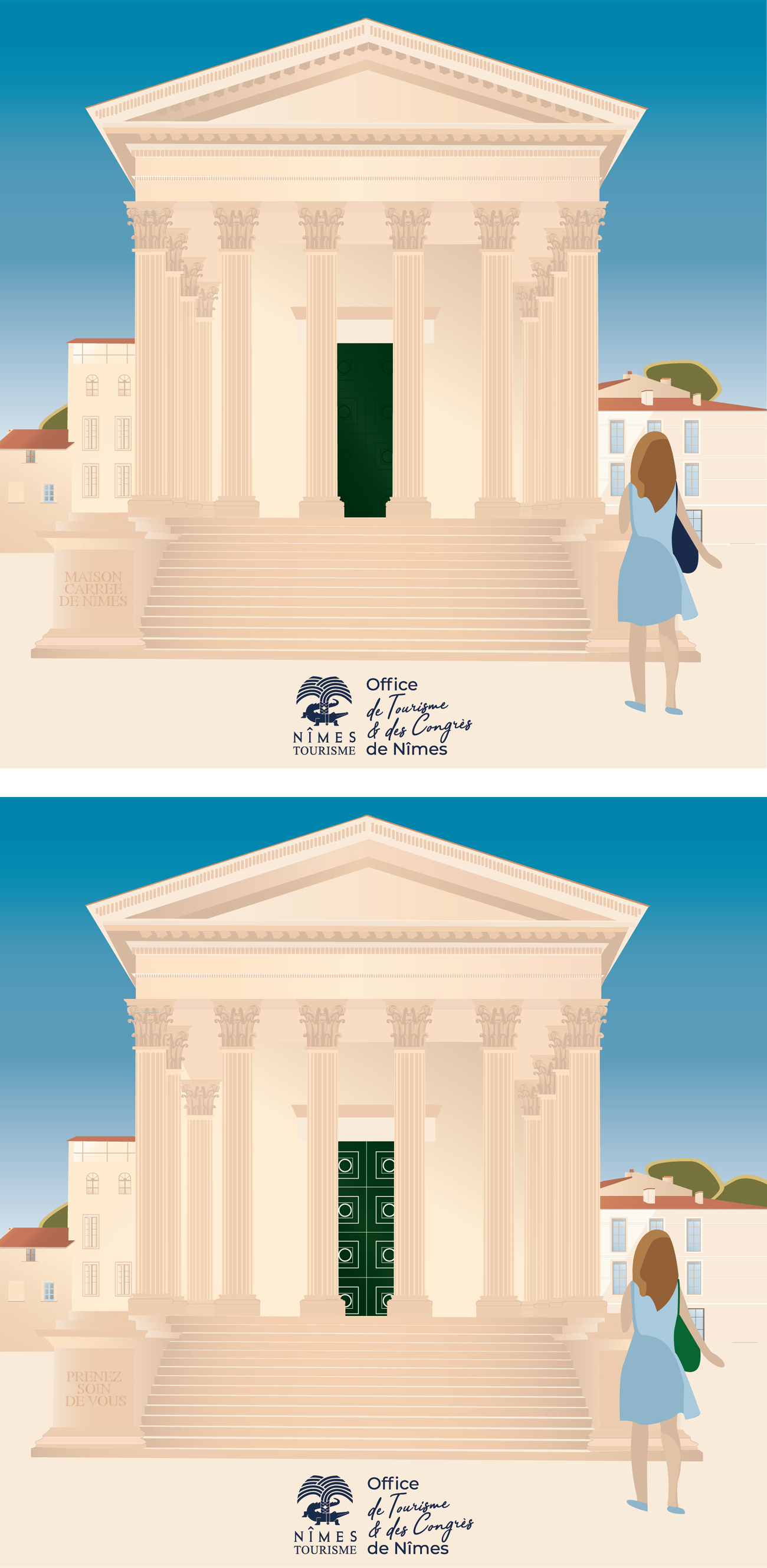 differences maison carree
