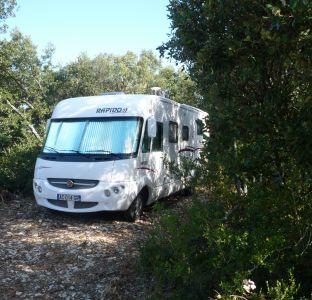Aire de camping cars Domaine de Fontbespierre